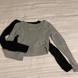American Apparel Cropped Long Sleeve Shirts